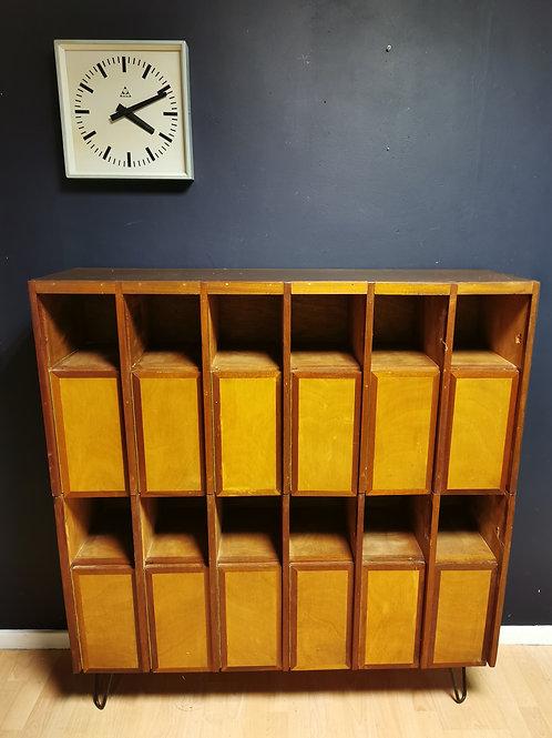 Mid century pigeon hole locker