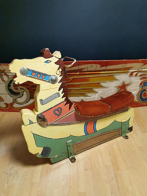 Vintage fairground speedway horse