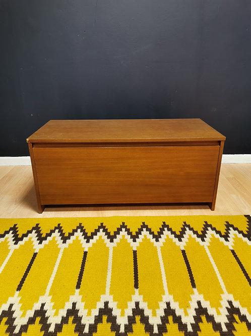 Avalon teak ottoman bedding box