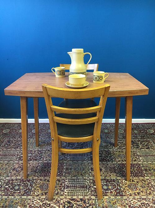 Czech formica veneer dining table