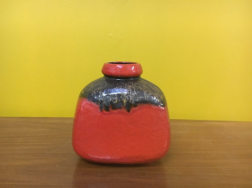 Red West German Fat lava pottery