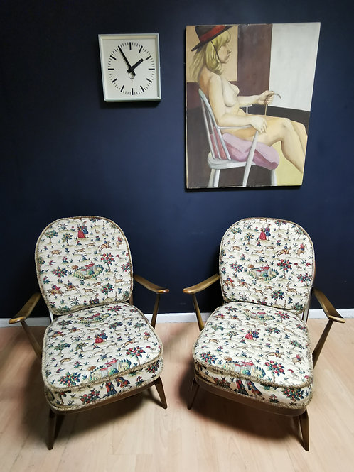 Pair of Ercol 203 easy chairs
