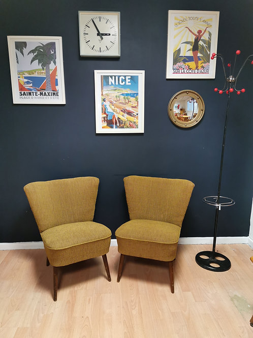 Pair Of Czech Mid Century Cocktail Chairs