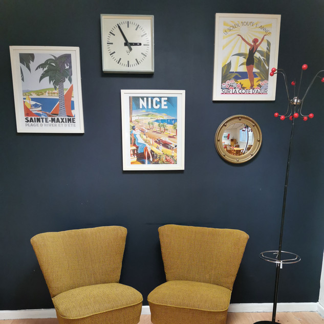 Pair of mid century cocktail chairs