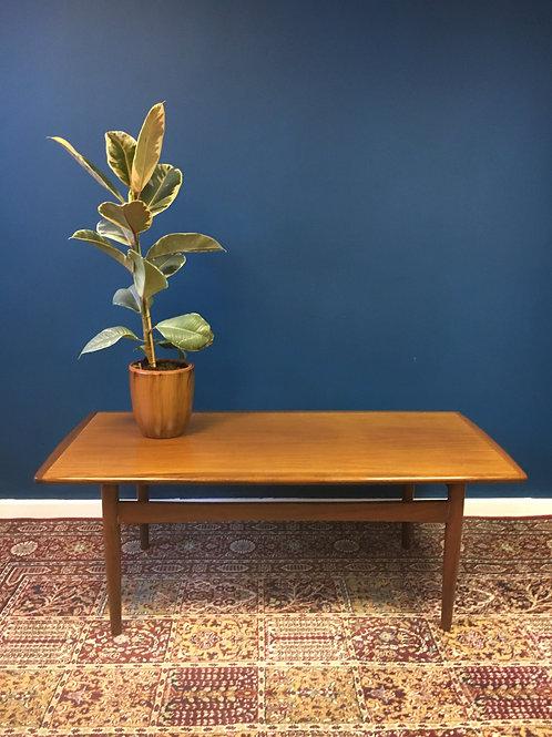 Danish style teak coffee table