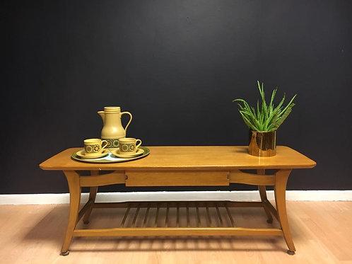 Mid century Light oak coffee table