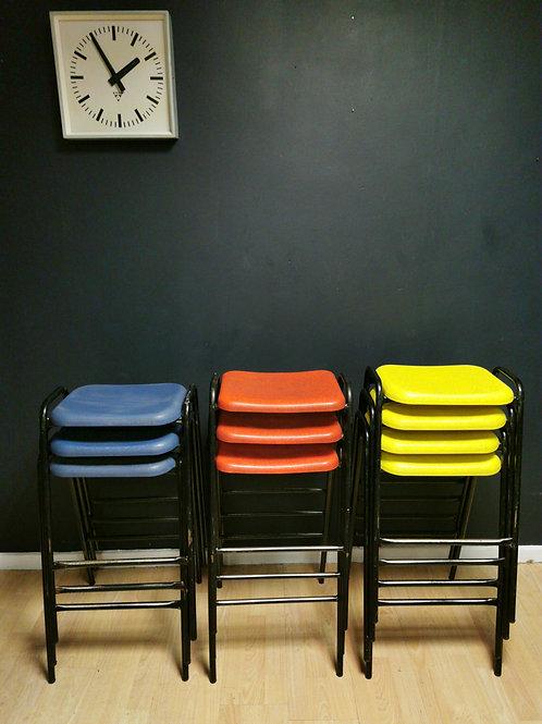 Vintage school stacking stools