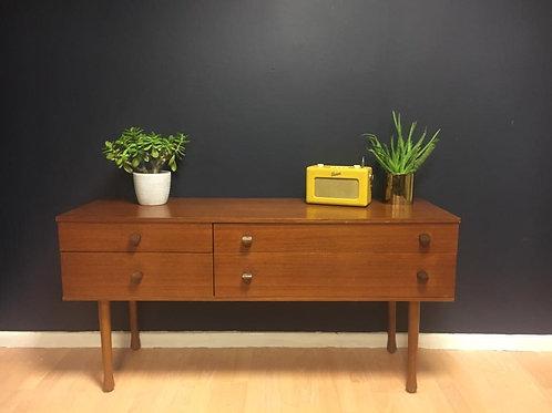 Avalon 4 drawer teak sideboard
