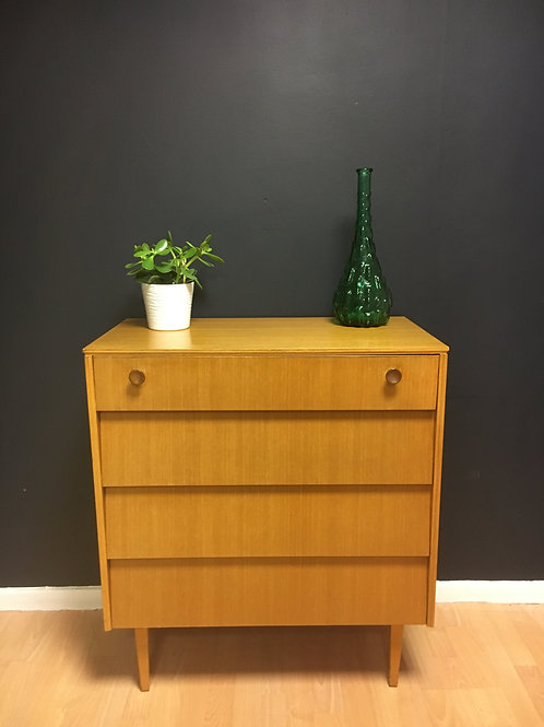 Mid century Avalon Chest of 4 Drawers