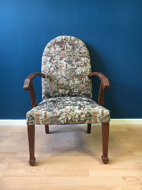 Vintage floral nursing chair