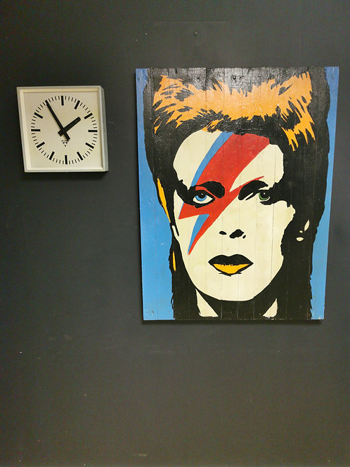 David Bowie Hand painted on wood