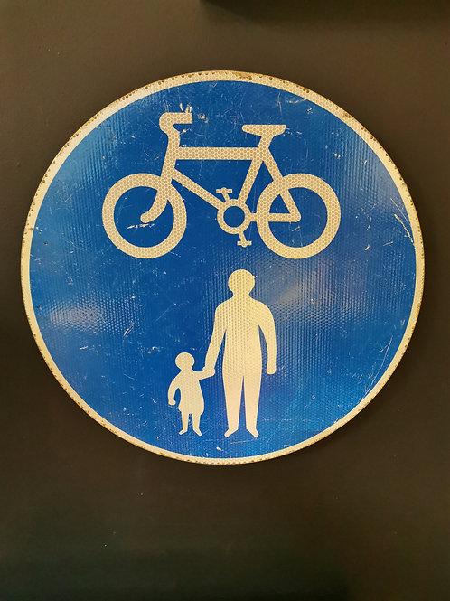 Pedestrian Cyclist road sign