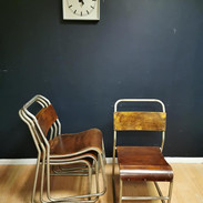 Steel & ply stacking chairs