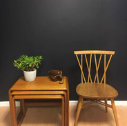 O' Donnel furniture nest of tables & Ercol candlestick chair