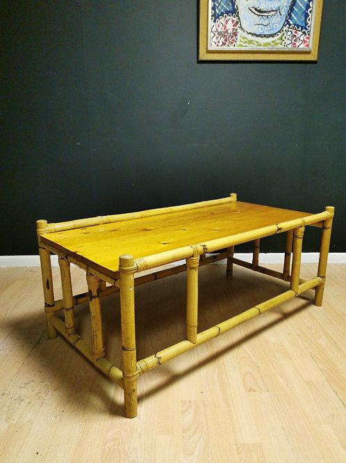Bamboo & pine coffee table