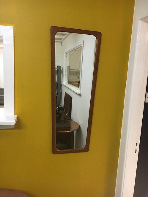 Teak mid century wall mirror