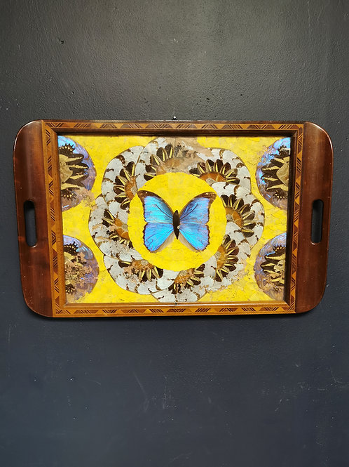 Butterfly drinks tray
