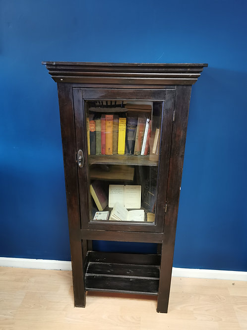 Antique ebonised pine bookcase