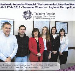 "Seminario Intensivo Vivencial. ""Neurocomunicación y Feedback"" Abril 17 de 2016 -Transener/Transba - Regional Metropolitana"