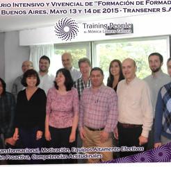 """Seminario Intensivo Y Vivencial de """"Formación de Formadores"""" Buenos Aires. Mayo 13 y 14 de 2015. Transener S.A"""