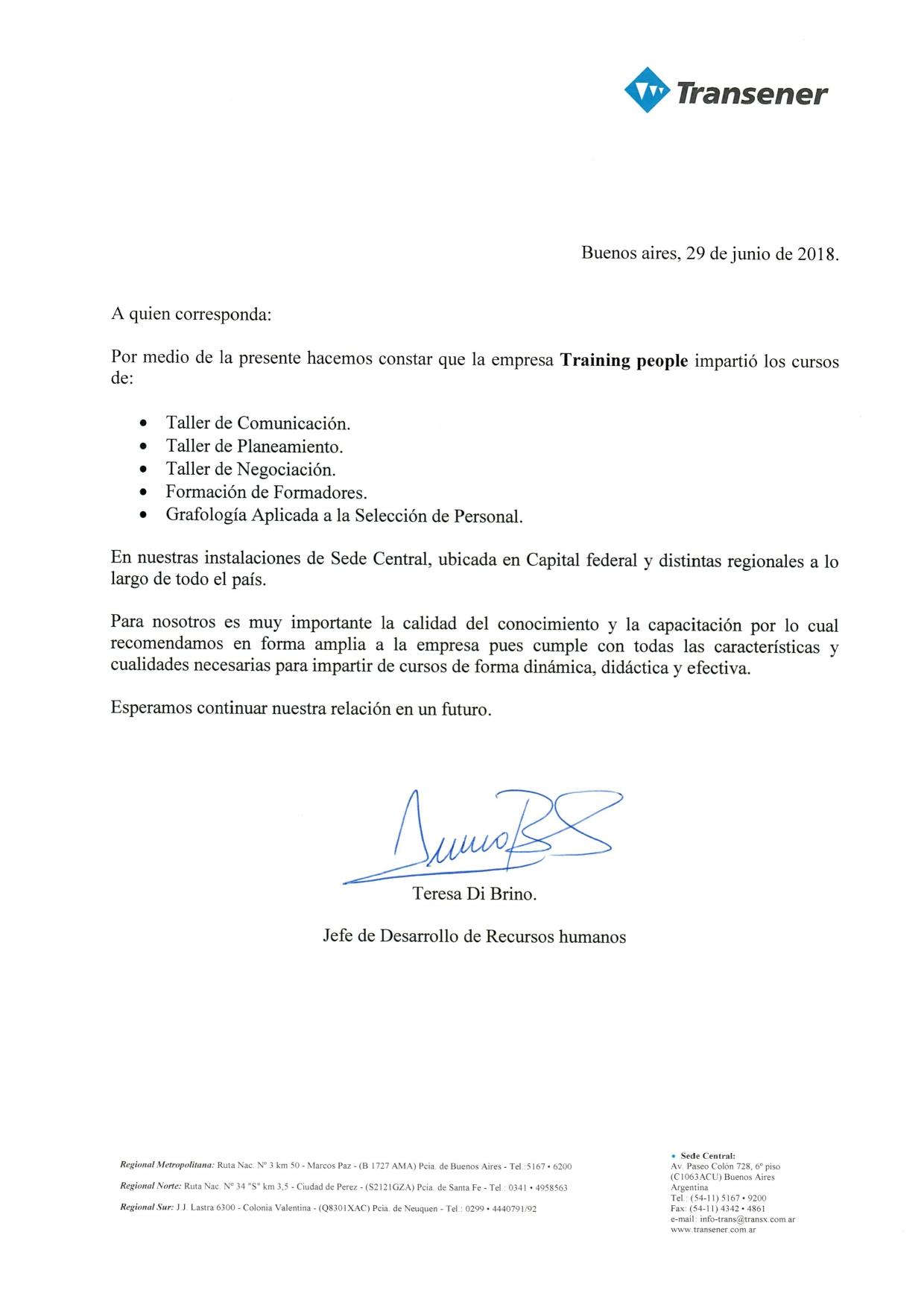 REFERENCIA TRANSENER- TRANSBA   JULIO 20