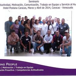 Seminario Vivencial. Equipo Servicio al Huesped Hotel Pestana Caracas 2014