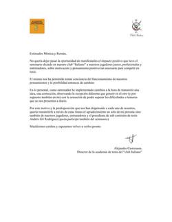 29 REFERENCIA CLUB  ITALIANO DE TENIS DI