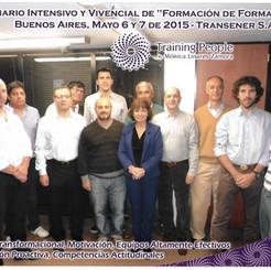 """Seminario Intensivo y Vivencial de """"Formación de Formacdores"""" Buenos Aires, Mayo 6 y 7 de 2015- Transener S.A"""