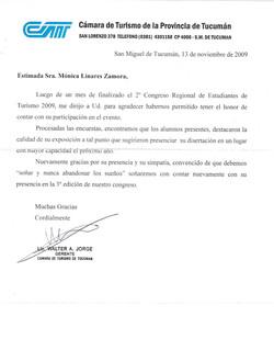 19 REFERENCIA CAMARA DE TURISMO DE TUCUM
