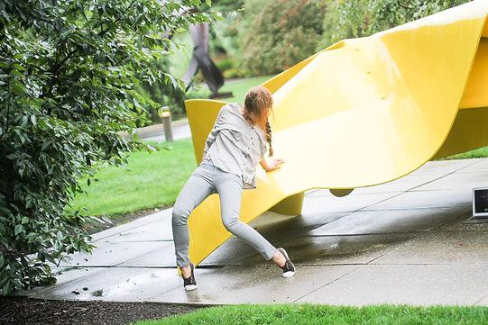 Choreography: He Jin Jang in collaboration with dancers. Sculpture: Hillary by Robert Murray. Photography: Matt Pilsner.