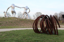 Three Indeterminate Lines by B.Venet