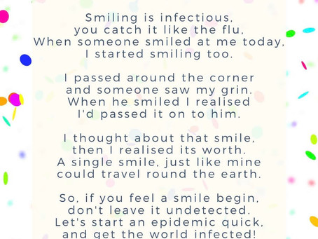 Smiling is infectious