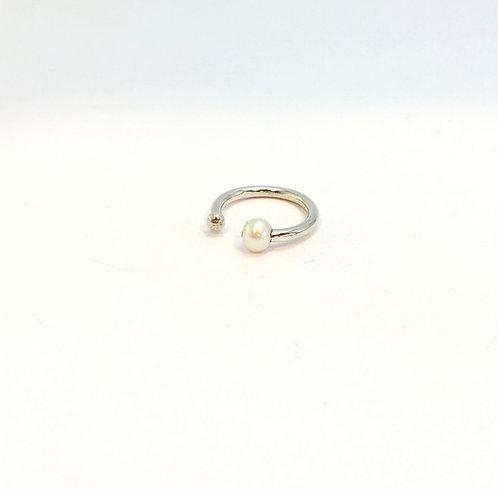 anel solitário pérola