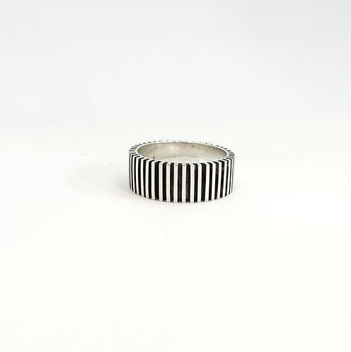 anel bolo de rolo masculino vertical