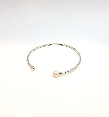 bracelete solitário pérola