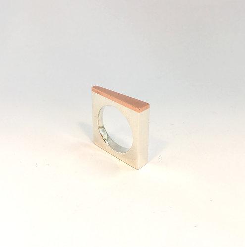 anel quadrado