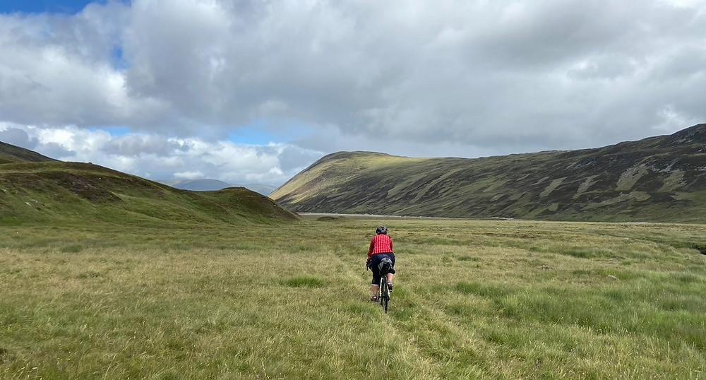 Rosie Baxendine bikepacking in Scotland