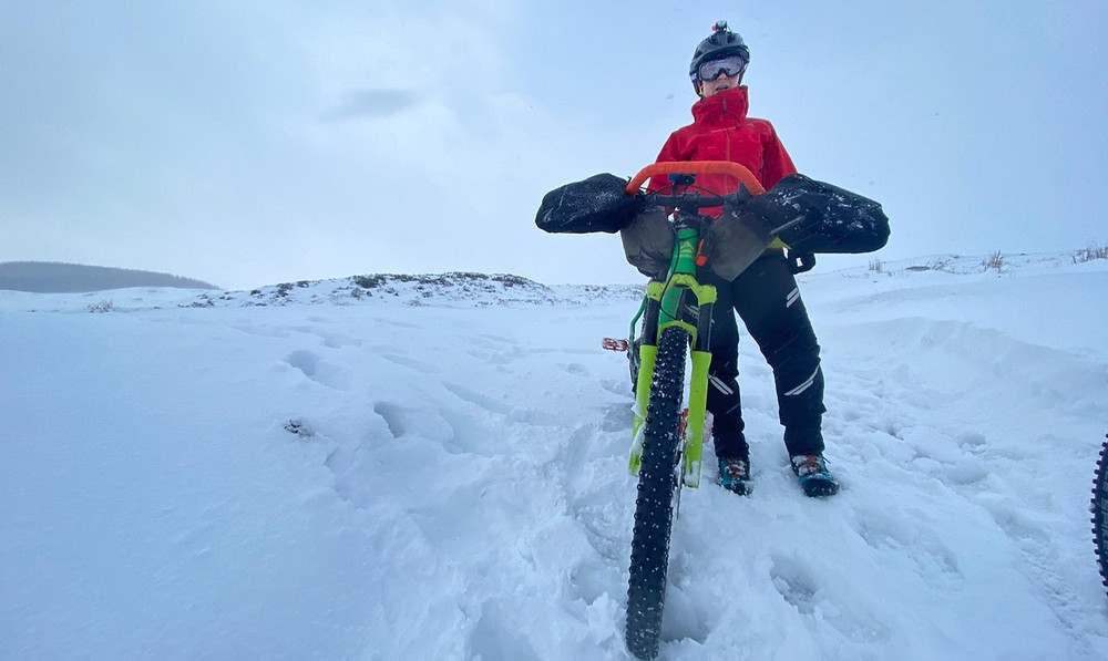Mountain biking in cold weather - pogies are a great addition