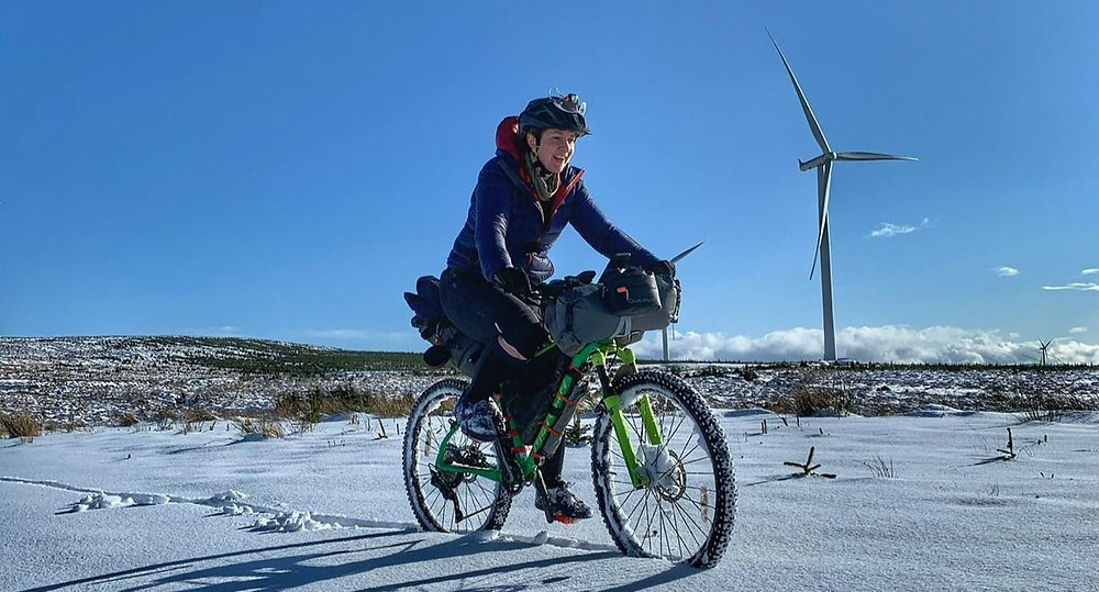 Bikepacking in winter conditions