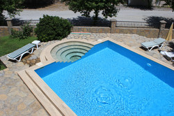 The pool from above