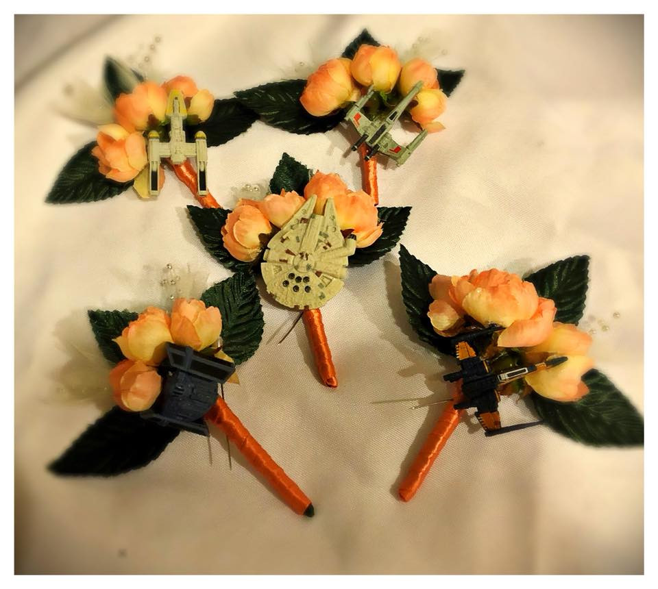 Star Wars Themed Boutonnieres