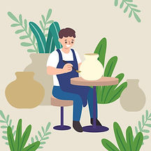 people-making-pottery-flat-design_23-214