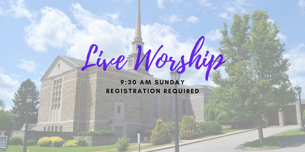 Sunday 9:30am June 28th - Live Worship