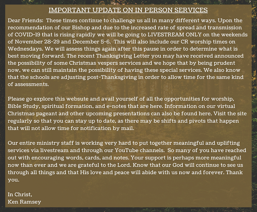 Copy of IMPORTANT UPDATE ON IN PERSON SE