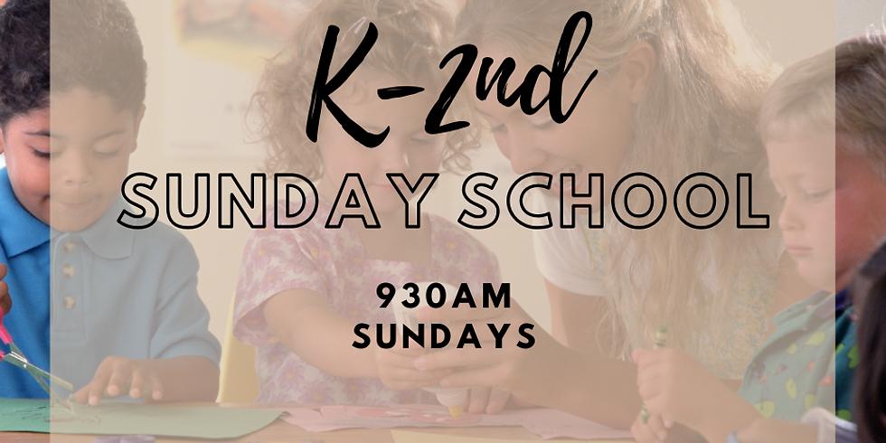 K-2nd Grade Sunday School - Every Sunday @ 9:30am