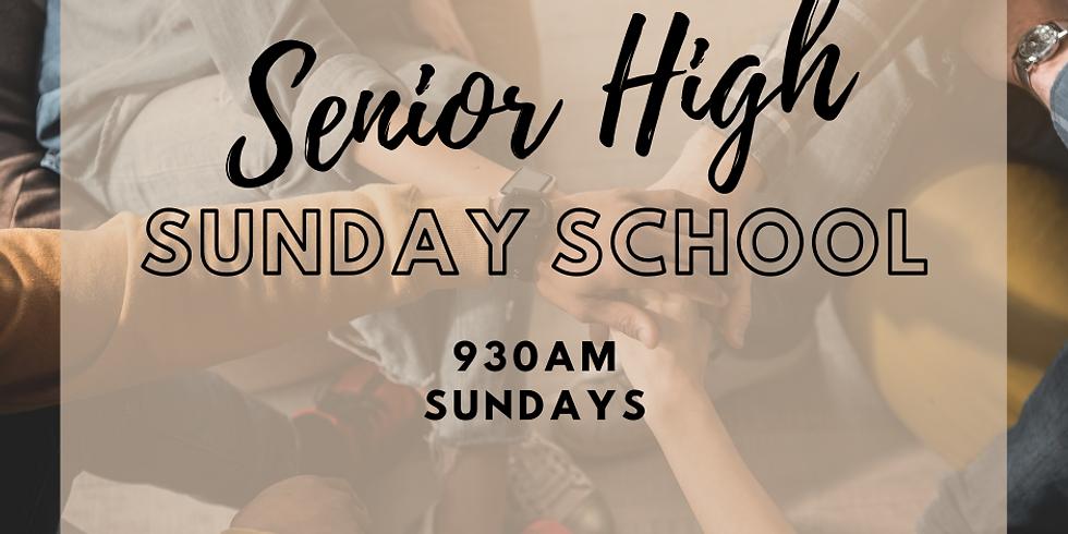 Senior High Sunday School - Every Sunday @ 9:30am