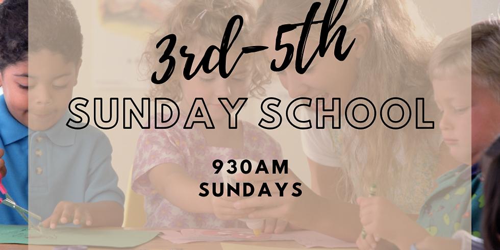 3-5th Grade Sunday School on Zoom - Every Sunday @ 9:30am