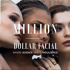 Million dollar facial skin care banner with women of different nationalities