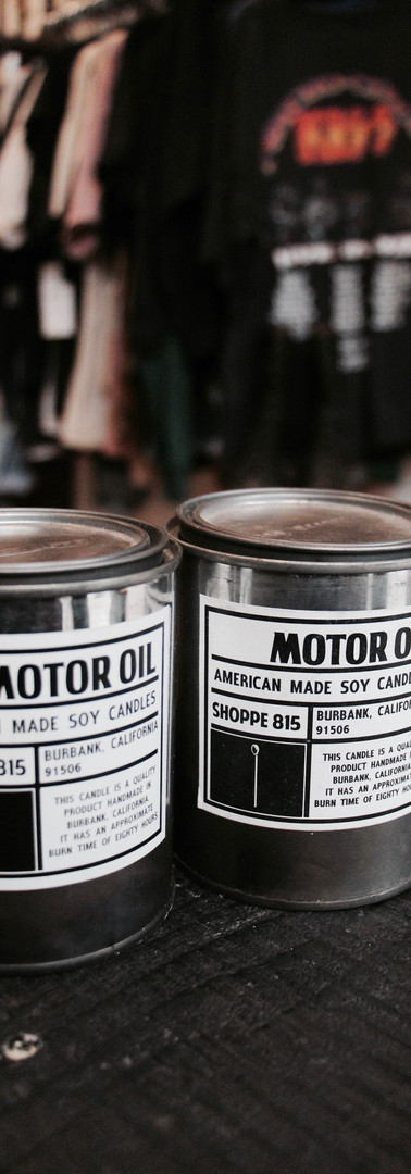 Motor Oil Candles