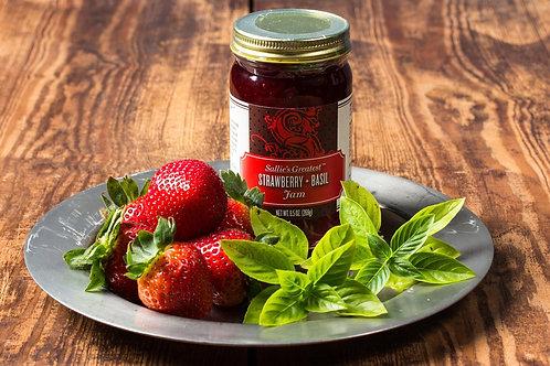 Strawberry + Basil Jam 9.5oz